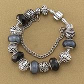 串珠手鍊-歐美時尚黑色系列水晶飾品女配件73kc472【時尚巴黎】