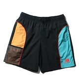 NEW BALANCE 短褲 NB 束繩扣 尼龍 黑藍黃 男 (布魯克林) AMS11500BM