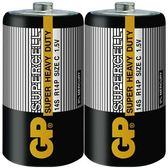 GP 超霸 (黑)超級環保碳鋅電池 2號 2入