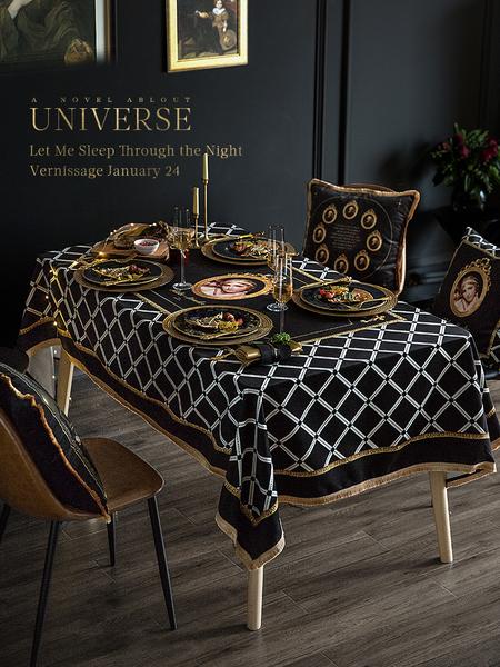 復古歐式奢華餐桌布 (120*170cm) 長方形茶几布 桌巾