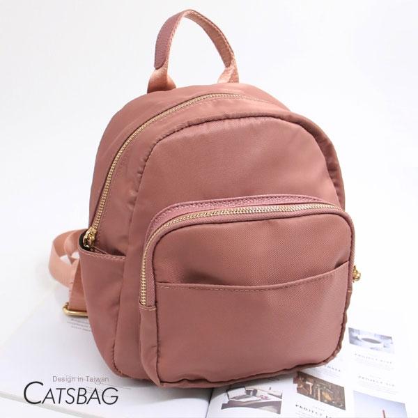 Catsbag|獨家防潑水尼龍加大版迷你後背包9603