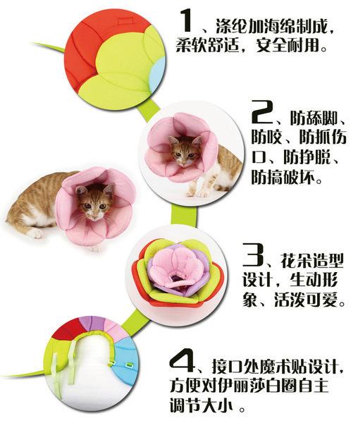 防舔寵物頭套 - 伊莉莎白花瓣型 - M