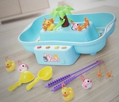 寶寶小貓釣魚池套裝2兒童磁性小孩電動玩具1-3-6歲 益智男孩女孩