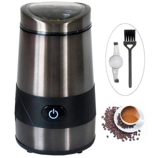 研磨機 家用電動磨咖啡豆機磨豆機美式咖啡磨粉機研磨機咖啡機 110V 交換禮物 韓菲兒