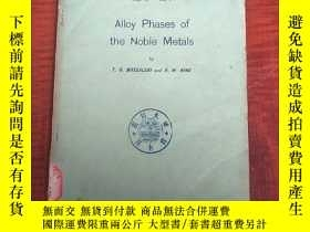 二手書博民逛書店alloy罕見phases of the Nobel metals(P3192)Y173412