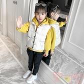 女童套裝秋冬裝韓版兒童加絨加厚馬甲衛衣三件套【聚可愛】