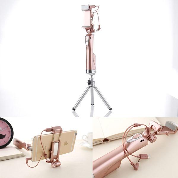 送三腳架 自拍桿 線控 補光燈 補光自拍桿 自拍神器 自拍棒 美肌 支架 拍照
