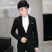 小西裝男士春季英倫休閒單西青年韓版修身型西服男裝上衣外套潮流 自由角落