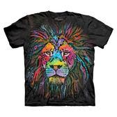 【摩達客】(預購)美國進口The Mountain 彩繪獅子 純棉環保短袖T恤(10416045136a)