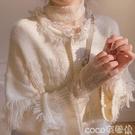 熱賣蕾絲打底衫 定制仙女網紗長袖上衣超仙高領蕾絲打底衫女秋冬洋氣內搭【618 狂歡】