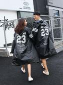 旅游連體透明雨衣女成人韓國時尚徒步男潮流款騎行防水自行車雨披·皇者榮耀3C