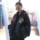 外套秋冬新款韓版寬鬆百搭翻領長袖帥氣上衣pu皮機車夾克外套女學生潮