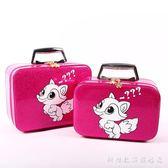 化妝包小號便攜迷你小淑女大容量收納包韓國簡約小方包手提化妝箱 科炫數位