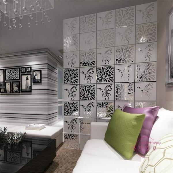 屏風簡易歐式屏風隔斷時尚客廳臥室簡約現代玄關雕花折疊掛簾子軟折屏