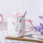 馬克杯水杯帶蓋勺咖啡牛奶杯【奇趣小屋】