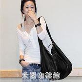 韓版潮軟皮休閒簡約大容量單肩包側背包大包包女包手袋51 米蘭潮鞋館
