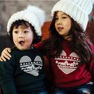 紅綠聖誕民族風長袖親子裝(小孩)