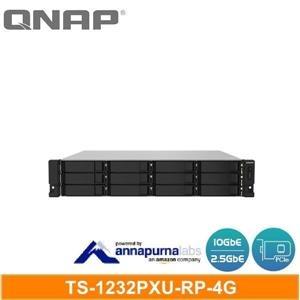 【綠蔭-免運】QNAP TS-1232PXU-RP-4G 機架式(不含滑軌,3年保)網路儲存伺服器