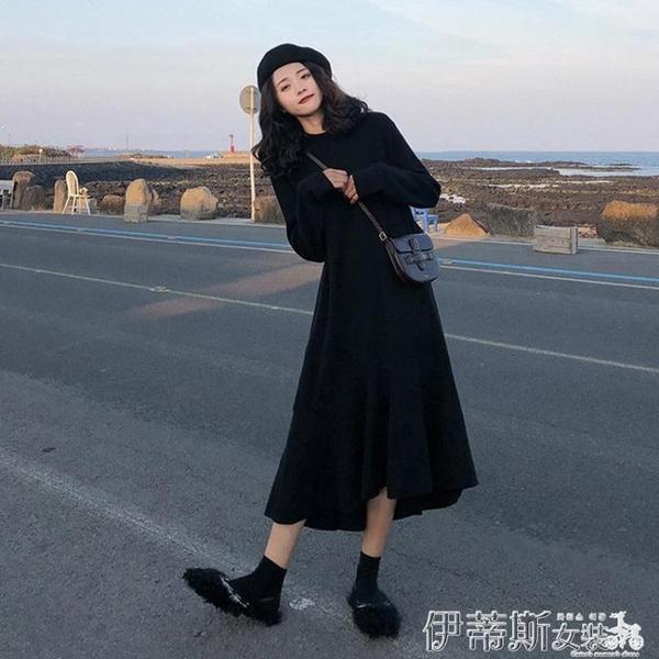 初秋年新款胖mm大碼女裝打底針織連身裙子秋冬洋氣顯瘦減齡潮 交換禮物