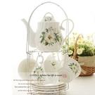 下午茶茶具組合含咖啡杯+茶壺-4人玫瑰圖...