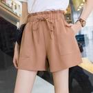 高腰短褲女寬鬆夏季新款韓版顯瘦花苞褲大碼闊腿抽繩工裝短褲 黛尼時尚精品