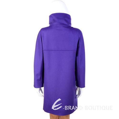 MARELLA 紫色立領隱藏釦式羊毛大衣 1340017-04
