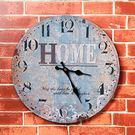 美式復古壁掛家居客廳店鋪創意鐘表墻面墻上墻壁掛件軟裝飾品墻飾  WY【快速出貨八折優惠】