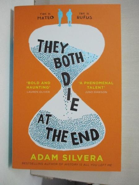 【書寶二手書T1/原文小說_B52】They Both Die at the End_Adam Silvera