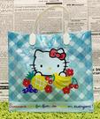 【震撼精品百貨】Hello Kitty 凱蒂貓~日本SANRIO三麗鷗KITTY塑膠袋/購物袋-水果藍*31736