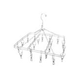 方型不鏽鋼雙層曬衣架(20夾)【愛買】