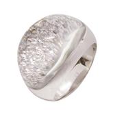 Cartier 卡地亞 18K白K金水晶鑽石戒指 Mist Ring 53號 K18WG【二手名牌 BRAND OFF】