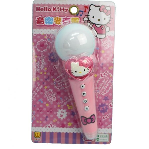 Hello Kitty 凱蒂貓麥克風 A334KT音樂麥克風玩具(附電池)/一個入{促240}正版授權-田.東匯