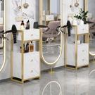理發店工具櫃發廊專用剪發鏡臺置物架美容小櫃子輕奢美發工具推車 NMS 果果輕時尚