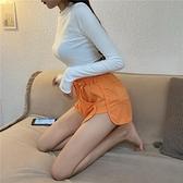 真理褲 高腰運動休閒褲女夏季新款顯瘦打底褲子外穿學生百搭寬鬆短褲-Ballet朵朵