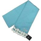 【波克貓哈日網】♥Barbie 芭比 ♥日本製保暖圍巾◇小圓球裝飾◇《淺藍色》~~情人節聖誕禮物