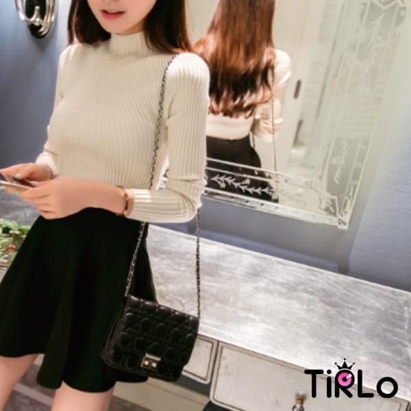 針織衫 -Tirlo-推薦!細織小高領打底衫