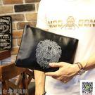 韓版男士商務獅子頭手拿包