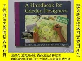 二手書博民逛書店A罕見Handbook for Garden Designers