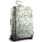 SUITSUIT 行李箱保護套 經典設計款-美鈔滿天飛 indulgence 寵愛自己