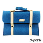 ▲福利品▼d-park Macbook Air 13吋仿羊毛手提式筆電包-天藍(內部瑕疵)