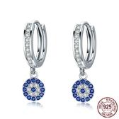 耳環 925純銀-鑲鑽韓版時尚精美閃耀女飾品73oh49【時尚巴黎】