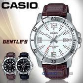 CASIO 卡西歐 手錶專賣店   MTP-VD01L-7B 指針男錶 皮革錶帶 白色錶面 日期顯示 MTP-VD01L