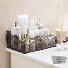 #女生必備#化妝品收納盒桌面塑料多格整理盒護膚品置物架【小檸檬3C】