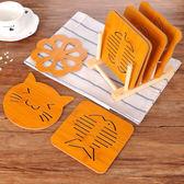 創意木質餐墊9件套裝 可愛卡通杯墊廚房加厚餐桌墊碗墊防燙隔熱墊 春生雜貨