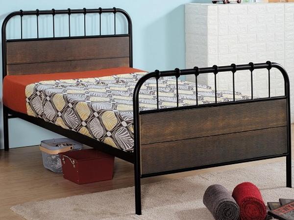 床架 床台 鐵床 AM-375-2 克森工業風3.5尺鐵床檯 (不含床墊) 【大眾家居舘】