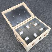 艾灸盒木質木製溫灸器6針大艾灸箱溫灸盒隨身灸艾條艾柱艾絨可用 初語生活館