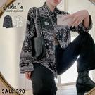 LULUS【A01200823】Y變形蟲圖紋襯衫2色