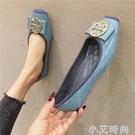2021春季新款韓版百搭平底豆豆孕婦鞋方頭瓢鞋大碼淺口歐美單鞋女 小艾新品