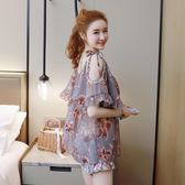 新春狂歡 泳衣女三件套正韓小香風比基尼分體裙式