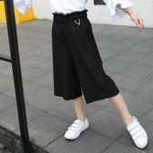 女童七分褲 女童褲子夏季兒童夏裝2018新款韓版七分褲LJ8253『夢幻家居』